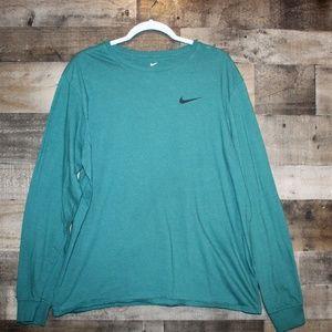 Men's Nike Long Sleeve Tee Teal